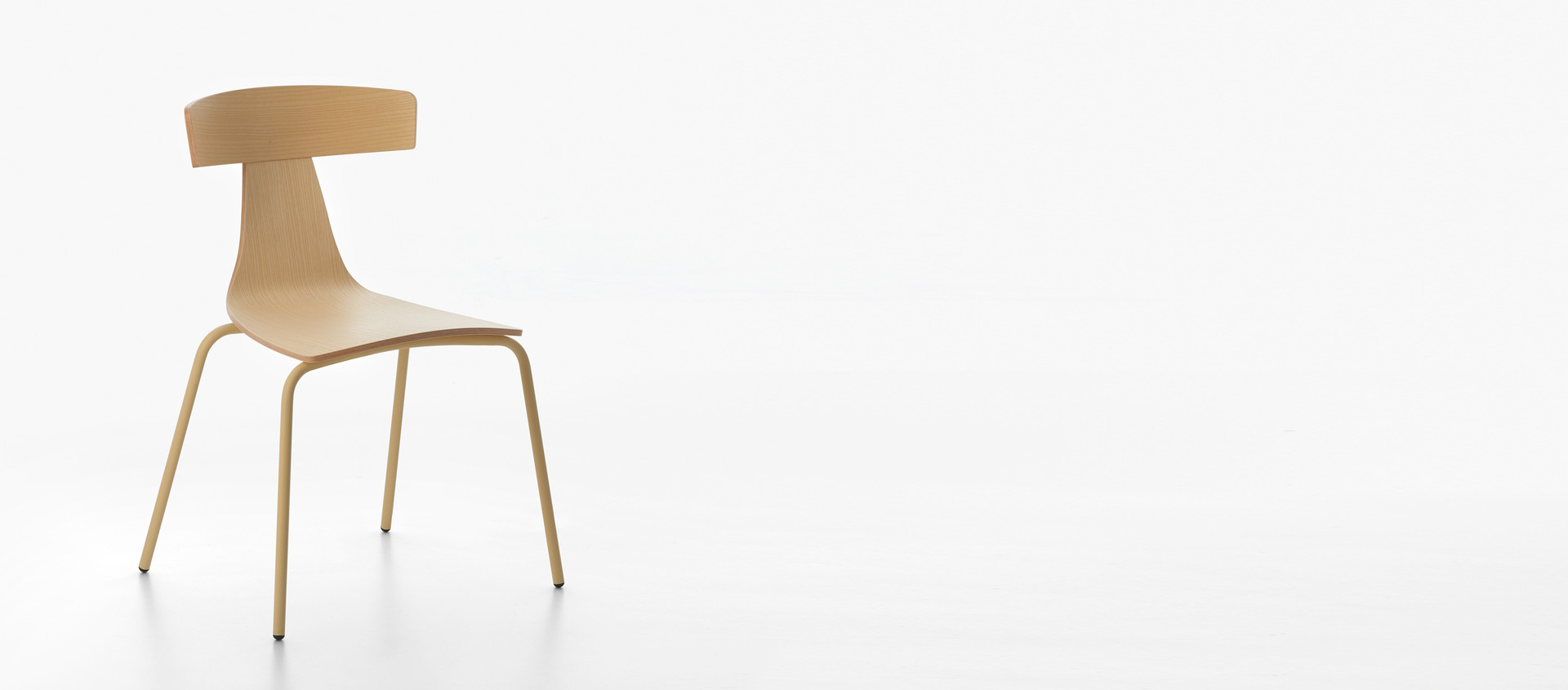 HERO - PLANK REMO wood chair, metal structure
