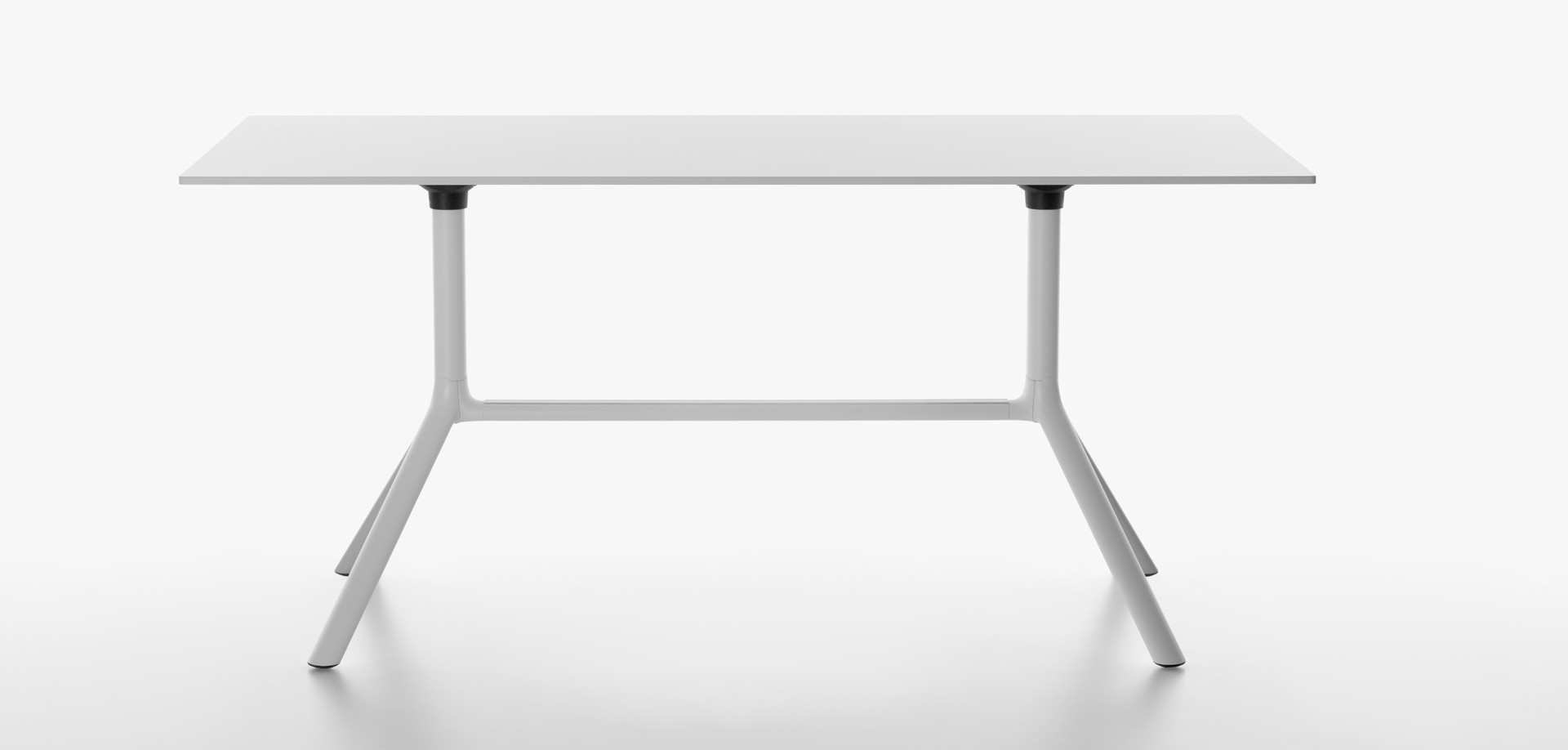Plank - MIURA table rectangular table top, 73 cm high, white