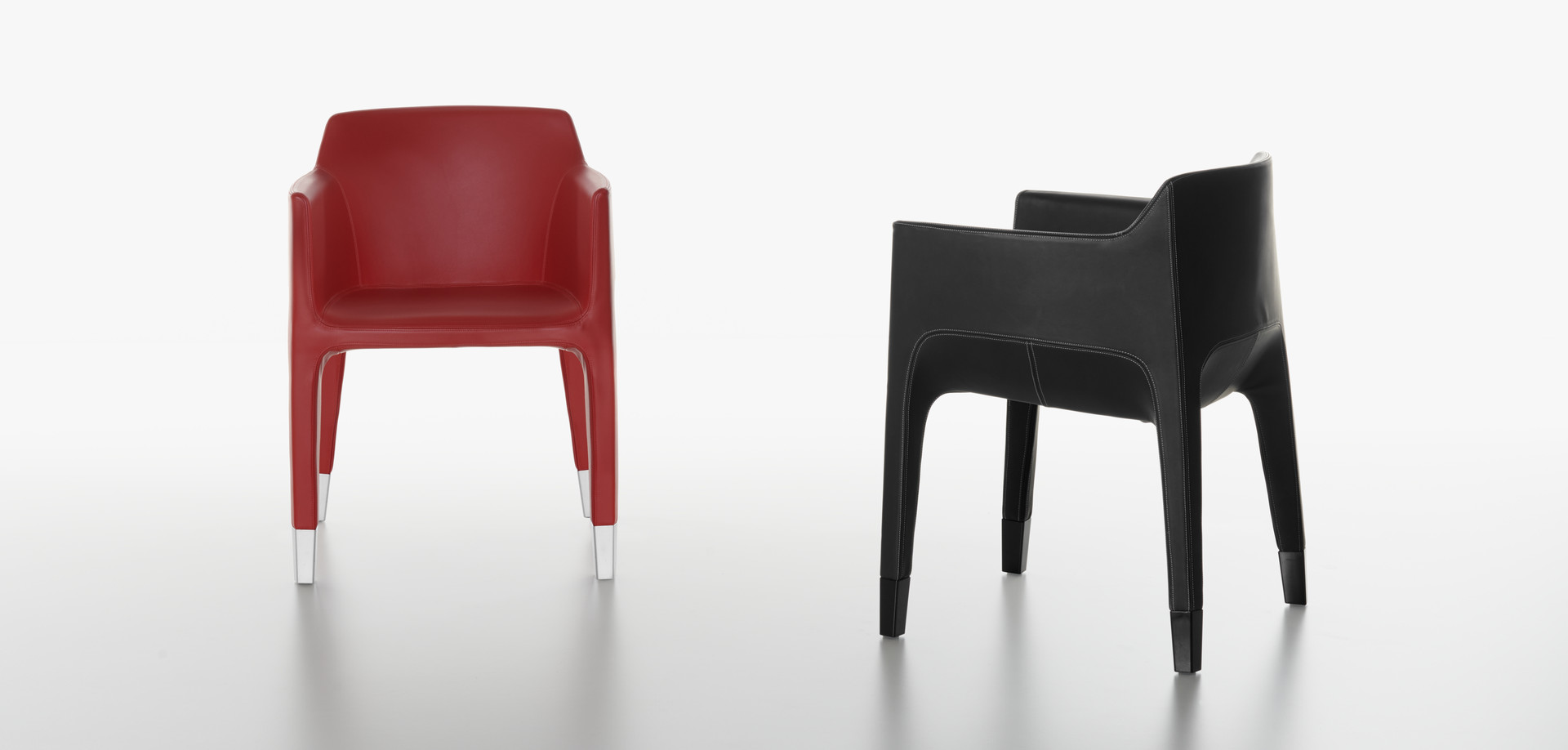 Plank - MON AMI armchair black and red