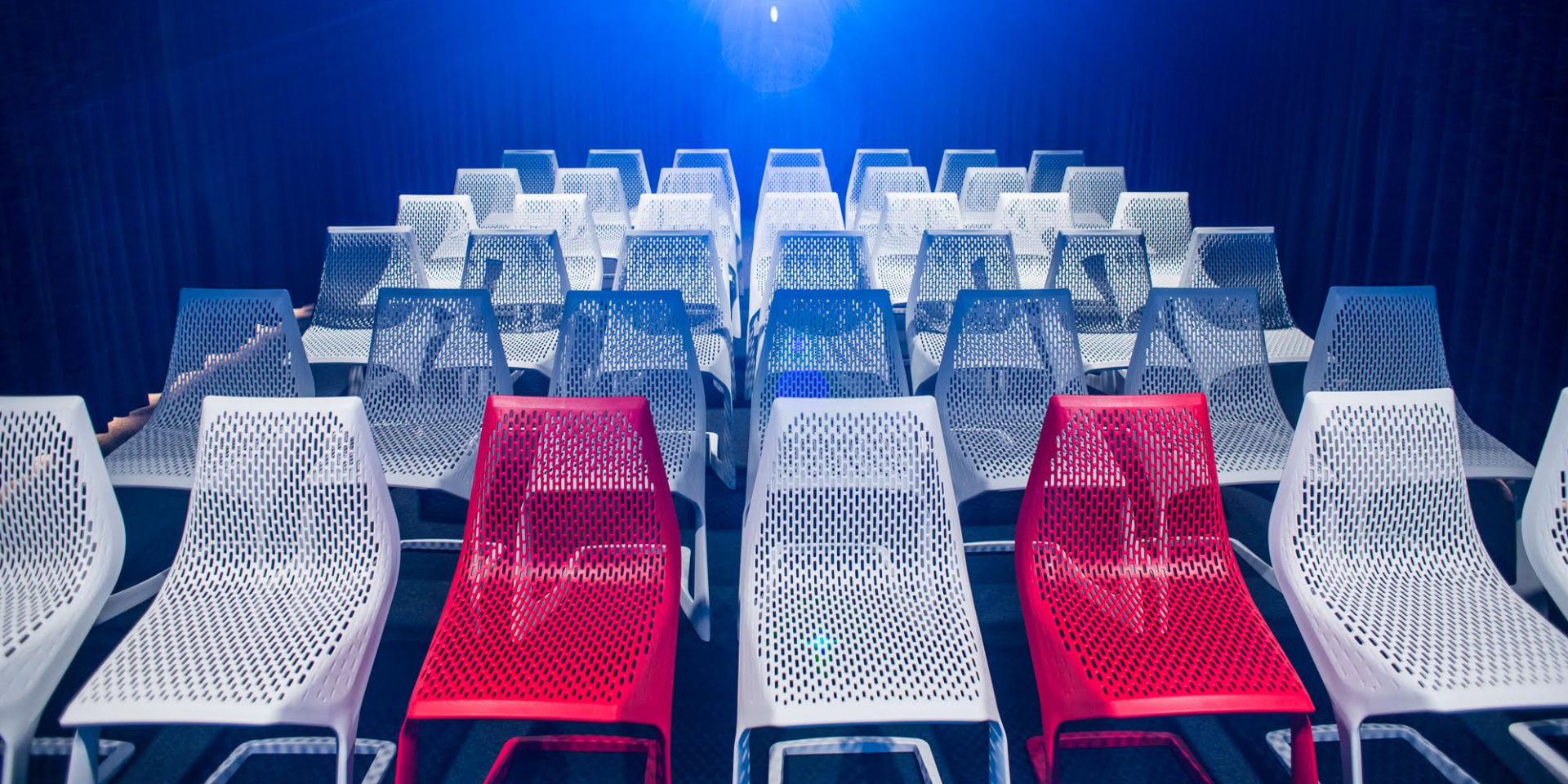 MYTO chair, design Konstantin Grcic, at Vilnius Airport Movie Theatre Film Box LT.